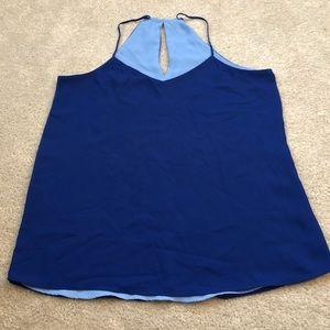 Express Reversible Blue Keyhole Back Dressy Tank